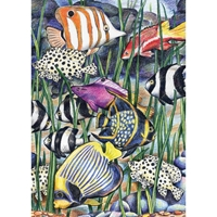 Εικόνα του Royal & Langnickel Mini Color Pencil By Number Kit - Tropical Fish
