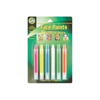 Εικόνα του Χρώματα Face Paint Push-Up Crayons - Neon