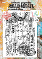 Εικόνα του Σφραγιδα Aall & Create A4 Stamp #112 - Travel Journal