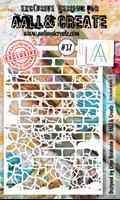 Εικόνα του Στενσιλ Aall & Create A6 - Cracked Walls