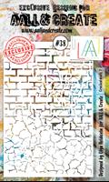 Εικόνα του Στενσιλ Aall & Create A6 - Cracked Walls 2