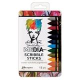 Εικόνα του Dina Wakley Media Scribble Sticks 2 12/Pkg