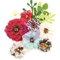 Εικόνα του Prima Marketing Midnight Garden Mulberry Paper Flowers - Sunset