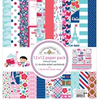 "Εικόνα του Doodlebug Double-Sided Paper Pack 12""X12"" - French Kiss"