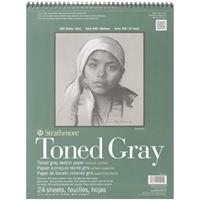 Εικόνα του Strathmore Toned Sketch Spiral Paper Pad - Gray 11''x14''