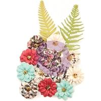 Εικόνα του Prima Marketing Midnight Garden Mulberry Paper Flowers - Secret Garden