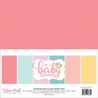"Εικόνα του Echo Park Double-Sided Solid Cardstock 12""X12"" - Hello Baby Girl"