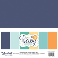 "Εικόνα του Echo Park Double-Sided Solid Cardstock 12""X12"" - Hello Baby Boy"
