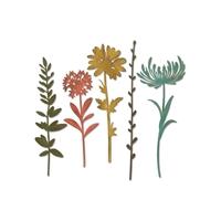 Εικόνα του Μητρες Κοπης Sizzix Thinlits Dies By Tim Holtz - Wildflower Stems 1
