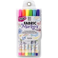 Εικόνα του Μαρκαδόροι για Ύφασμα Tulip Writer Fabric Markers - Neon