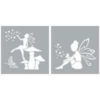 "Εικόνα του Americana Decor Stencil 8""X8"" - Fairies"