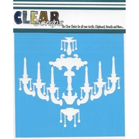 """Εικόνα του Clear Scraps Stencils 12""""X12"""" - Chandelier"""