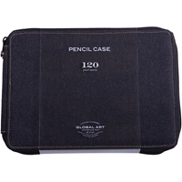 Εικόνα του Canvas Pencil Case Κασετίνα 120 Θέσεων - Μαύρο