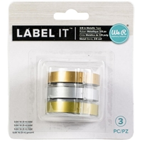 "Εικόνα του We R Memory Keepers LabelIT .375"" Emboss Tape Rolls 3/Pkg - Metallic"