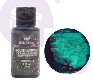 Picture of Finnabair Art Alchemy Liquid Acrylic Paint - Emerald