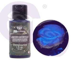 Picture of Finnabair Art Alchemy Liquid Acrylic Paint - Ultramarine