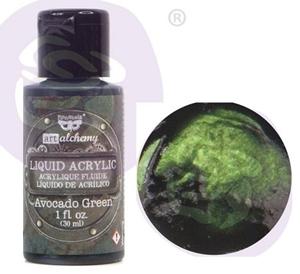 Picture of Finnabair Art Alchemy Liquid Acrylic Paint - Avocado Green
