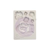 """Εικόνα του Καλούπια Σιλικόνης Finnabair Decor Moulds 3.5""""X4.5"""" - Flower Queen"""