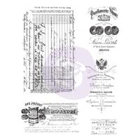 """Εικόνα του Finnabair Cling Stamps 6""""X7.5"""" - Old Paper Work"""