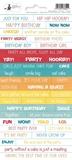 Εικόνα του Piatek Αυτοκόλλητες Λέξεις και Φράσεις -  Happy Birthday 01