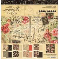 "Εικόνα του Graphic 45 Collection Pack 12""X12"" - Love Notes"