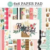 """Εικόνα του Carta Bella Double-Sided Paper Pad 6""""X6"""" - Flower Market"""