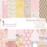"Εικόνα του Dress My Crafts Single-Sided Paper Pad 12""X12"" - Charming Baby Girl"