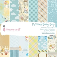 "Εικόνα του Dress My Crafts Single-Sided Paper Pad 12""X12"" - Precious Baby Boy"