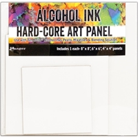 "Εικόνα του Tim Holtz Alcohol Ink Hard Core Art Panel - Square 4""X4"", 6""X6"", 8""X8"""