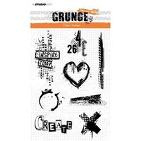 Εικόνα του Studio Light Grunge Collection Σετ Σφραγίδες A5 - No. 363