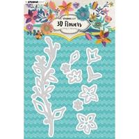 Εικόνα του Studio Light Flowers Cutting & Embossing Die Μήτρες Κοπής - Νο. 181