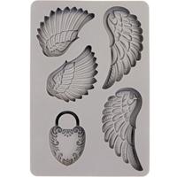 """Εικόνα του Καλούπια Σιλικόνης Finnabair Decor Moulds 4""""X6"""" - Wing & Locket"""