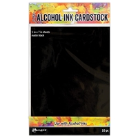 "Εικόνα του Tim Holtz Alcohol Ink Cardstock 5""X7"" - Black Matte"