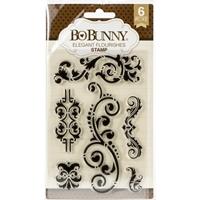 """Εικόνα του BoBunny Clear Stamps 4""""X6"""" - Elegant Flourishes"""