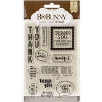 """Εικόνα του BoBunny Clear Stamps 4""""X6"""" - Gratitude"""
