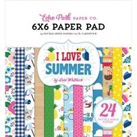 """Εικόνα του Echo Park Double-Sided Paper Pad 6""""X6"""" - I Love Summer"""