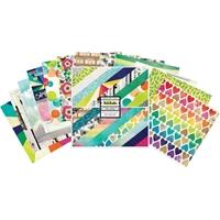 """Εικόνα του American Crafts Double-Sided Paper Pad 12""""X12"""" - Color Kaleidoscope"""