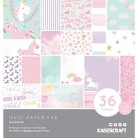 """Εικόνα του Kaisercraft Specialty Paper Pad 12""""X12"""" - Unicorns"""