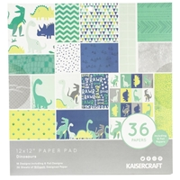 """Εικόνα του Kaisercraft Specialty Paper Pad 12""""X12"""" - Dinosaurs"""