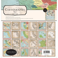 "Εικόνα του Carta Bella Collection Kit 12""X12"" - Cartography No.1"