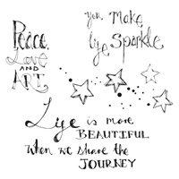 Εικόνα του Jane Davenport Artomology Clear Stamps - Life Sparkle