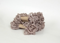 Εικόνα του Shabby Crinkled Seam Binding Ribbon - Grey