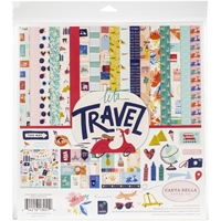 "Εικόνα του Carta Bella Collection Kit 12""X12"" - Let's Travel"