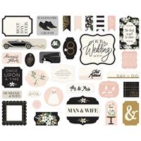 Εικόνα του Echo Park Cardstock Ephemera - Wedding Day Icons