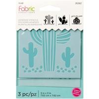 """Εικόνα του Fabric Creations Αυτοκόλλητο Stencil 3""""X3"""" - Cactus"""