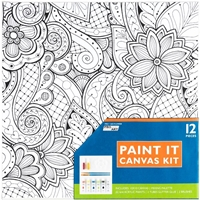 "Εικόνα του Pro Art Paint-It Canvas Kit 10""X10"" - Flower"