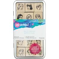 Εικόνα του Jane Davenport Artomology Stamp Tin Set - Tin of Friends
