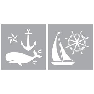 """Picture of Americana Decor Stencil 8""""X8"""" - Nautical"""