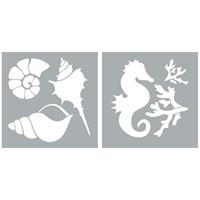 """Εικόνα του Americana Decor Stencil 8""""X8"""" - Ocean Life"""