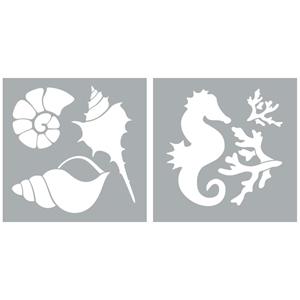 """Picture of Americana Decor Stencil 8""""X8"""" - Ocean Life"""